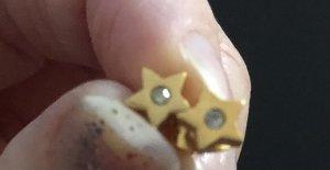 Goldene Stern Ohrringe zirkonia Neu