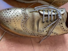 Sartori Wingtip Shoes gold-colored leather