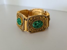 Vintage Bracelet de bras doré-vert