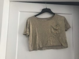 Goldenes Crop Top