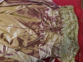 Robe bustier doré tissu mixte