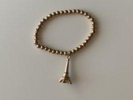 Brazalete de perlas color oro