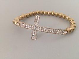 Bracelet en perles doré
