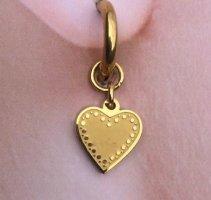 Zarcillo color oro acero inoxidable