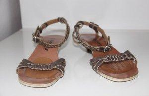 """Goldfarbene Sandale der Marke """"Pieces"""", Größe 37"""