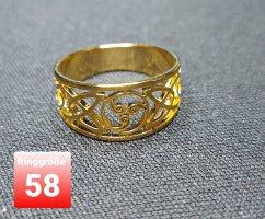 Goldfarbener Chirurgenstahl Ring