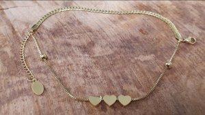 Goldfarbener Damen Armband aus Chirurgenstahl ( 16cm +6 cm x 5 mm