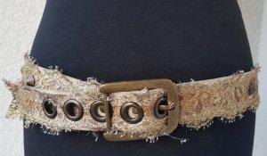 Cinturón de tela color oro