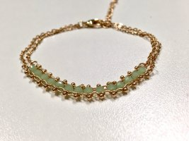 Bracelet gold-colored-turquoise