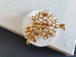 Brooch gold-colored-oatmeal