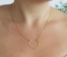 Goldkette mit Kreis-Verbinder