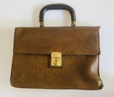 Goldpfeil Vintage Leder Handtasche