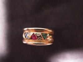 Gold Ring light orange real gold