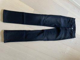 Goldsign Jeans taille haute bleu foncé tissu mixte