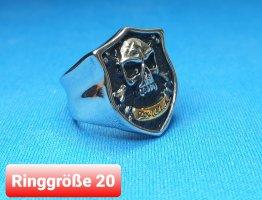 Good Luck Biker Ring aus Chirurgenstahl