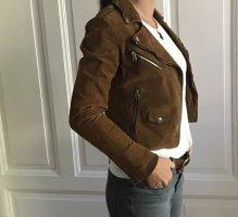 Goosecraft Giacca in pelle bronzo-marrone Pelle