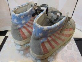 Gr. 35 Ricosta coole Wilderleder Sneaker Ankelboots mit Reissverschluss guter getragener Zustand