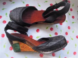 Art Wedge Sandals multicolored leather