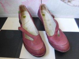 El Naturalista Tacones Mary Jane rojo oscuro-burdeos Cuero