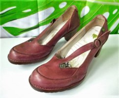 El Naturalista Mary Jane Pumps dark red-bordeaux leather