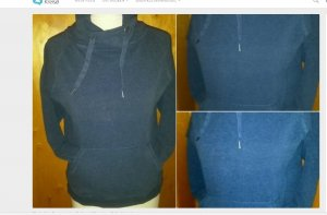 gr xs  blauer hoodie