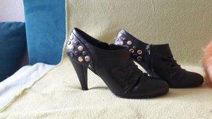 Graceland Hochfrontpumps Pumps Schuhe mit Metall Nieten Schwarz Größe 41