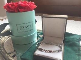 Granat-Silber-Armband