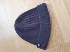 Cappello in tessuto grigio-antracite