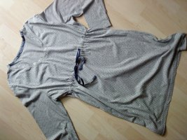 House-Frock light grey-dark blue cotton