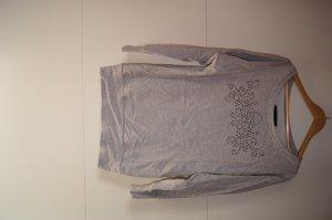 Grau melierter Oversizepulli mit Nieten von Tom Tailor Sweater Sweatpullover