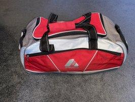 Grau/rote Sporttasche, Reisetasche, Tasche