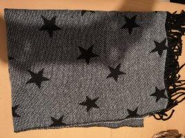 Blue Motion Gebreide sjaal zwart-grijs