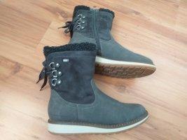 Grau/Schwarze Stiefel