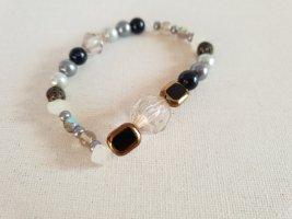 Grau Silber Steinmix Armband Perlen Schmuck