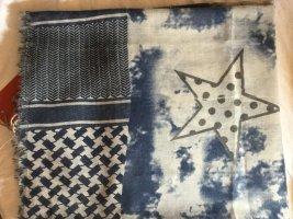 Graublau Rauchblau Tuch groß lebendig schön