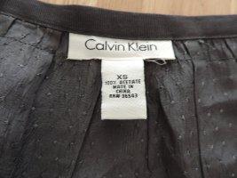Graue Bluse von Calvin Klein in Seidenoptik