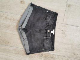 graue Jeans Shorts