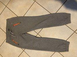 H&M Sport Trackies grey-neon orange