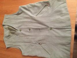 Graue Weste mit Taschen und Abnähern