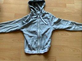 Calvin Klein Sweat Jacket silver-colored