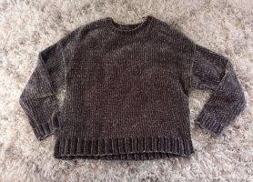 Pull & Bear Jersey de cuello redondo gris antracita