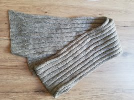 Bufanda de punto gris claro-gris