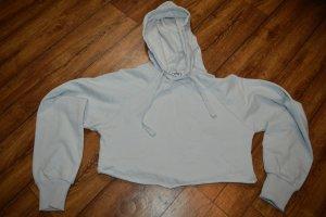 Maglione con cappuccio grigio chiaro