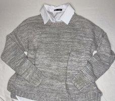 Forever 21 Jersey de punto grueso gris claro-gris