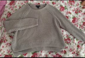 H&M Long Sweater silver-colored-green grey