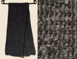 Bufanda de punto gris oscuro-marrón grisáceo