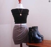 Mango Kopertowa spódnica Wielokolorowy Tkanina z mieszanych włókien