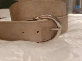 Faux Leather Belt light grey