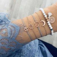 graues Armband mit Weltkugel NEU