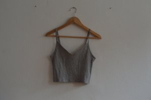 graues cropped top H&M